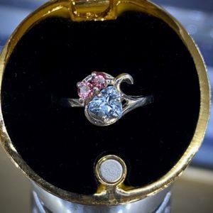 Aquamarine and Tourmaline Ring